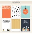 Set of christmas greeting journal cards vector image
