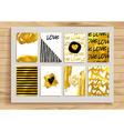 Set of gold vintage cards vector image vector image