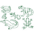 set of reptiles vector image