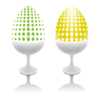 set of unusual easter eggs vector image vector image