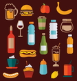 simple food icons2 vector image vector image