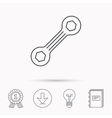 Spanner tool icon Repairing service sign vector image vector image