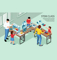 stem class isometric background vector image vector image