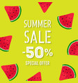 summer sale poster special offer vector image vector image