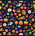sweet halloween treats seamless pattern vector image vector image