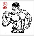 the man with the muscles a bearded stern man vector image vector image