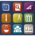 tools learning icon vector image vector image