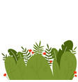 tropical leaves background template flat design vector image