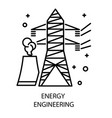 water station and nuclear plant energy vector image