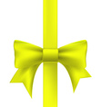 yellow ribbon with a bow vector image vector image