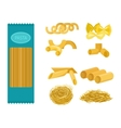 Pasta products set vector image