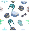 Air transport pattern cartoon style vector image vector image