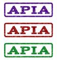 apia watermark stamp vector image vector image