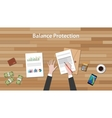 balance protection concept with business man work vector image vector image