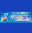 banner template of online shopping vector image vector image