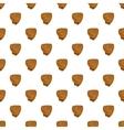 Baseball glove pattern cartoon style vector image