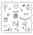 Birthday Party doodle vector image vector image
