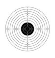 blank template for sport target shooting vector image vector image