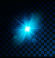 blue glowing light glitter effect on transparent vector image vector image