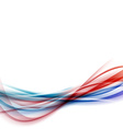 Blue red swoosh speed vivid line fusion vector image vector image