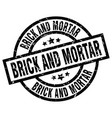 brick and mortar round grunge black stamp vector image vector image