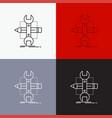 build design develop sketch tools icon over vector image vector image