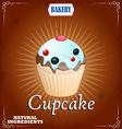 Cake in Retro Style vector image vector image