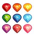 cartoon crystals are colored vector image vector image