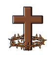 catholic cross design vector image vector image