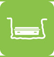 coffin in grave vector image vector image