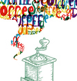 Cute coffee vintage design concept vector image vector image