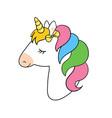 cute unicorn unicorn vector image vector image