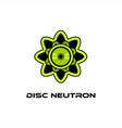 disc neutron logo vector image