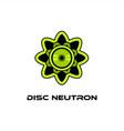 disc neutron logo vector image vector image