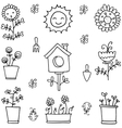 Doodle of spring item with hand draw vector image vector image