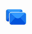 double envelope letter mail message send icon vector image vector image