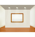 empty white wall with picture vector image