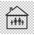 Family sign Dark gray icon on vector image vector image