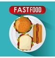Fast Food design Menu icon Colorfull vector image vector image