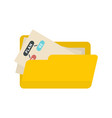 file folder management icon flat style vector image vector image