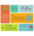 Flat design infographics of kayaking canoe vector image