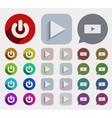 flat play icons set vector image