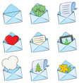 funny envelopes vector image vector image