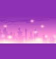 future night city with futuristic skyscrapers vector image vector image