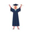 graduated student girl wearing graduation vector image