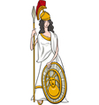 greek goddess athena cartoon vector image vector image