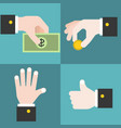 hand collections set 2 vector image vector image