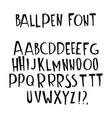 hand drawn doodle font alphabet letters abc upper vector image vector image