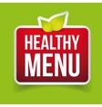 Healthy Menu sign red vector image vector image