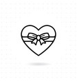 heart gift box icon vector image vector image